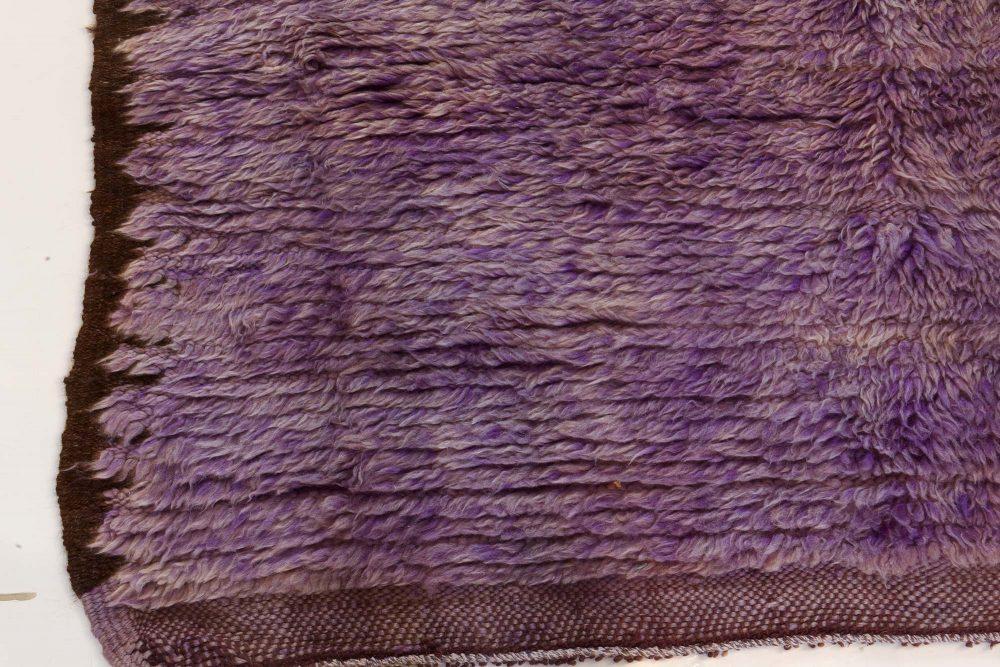 Midcentury Moroccan Purple Handwoven Wool Rug BB7353