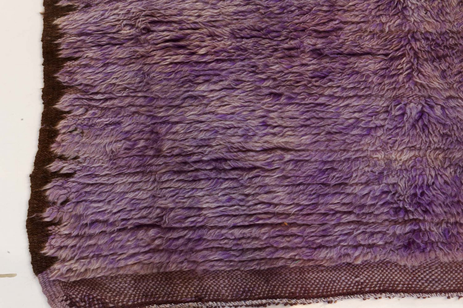 Midcentury Moroccan Purple Handwoven Wool Rug BB7353