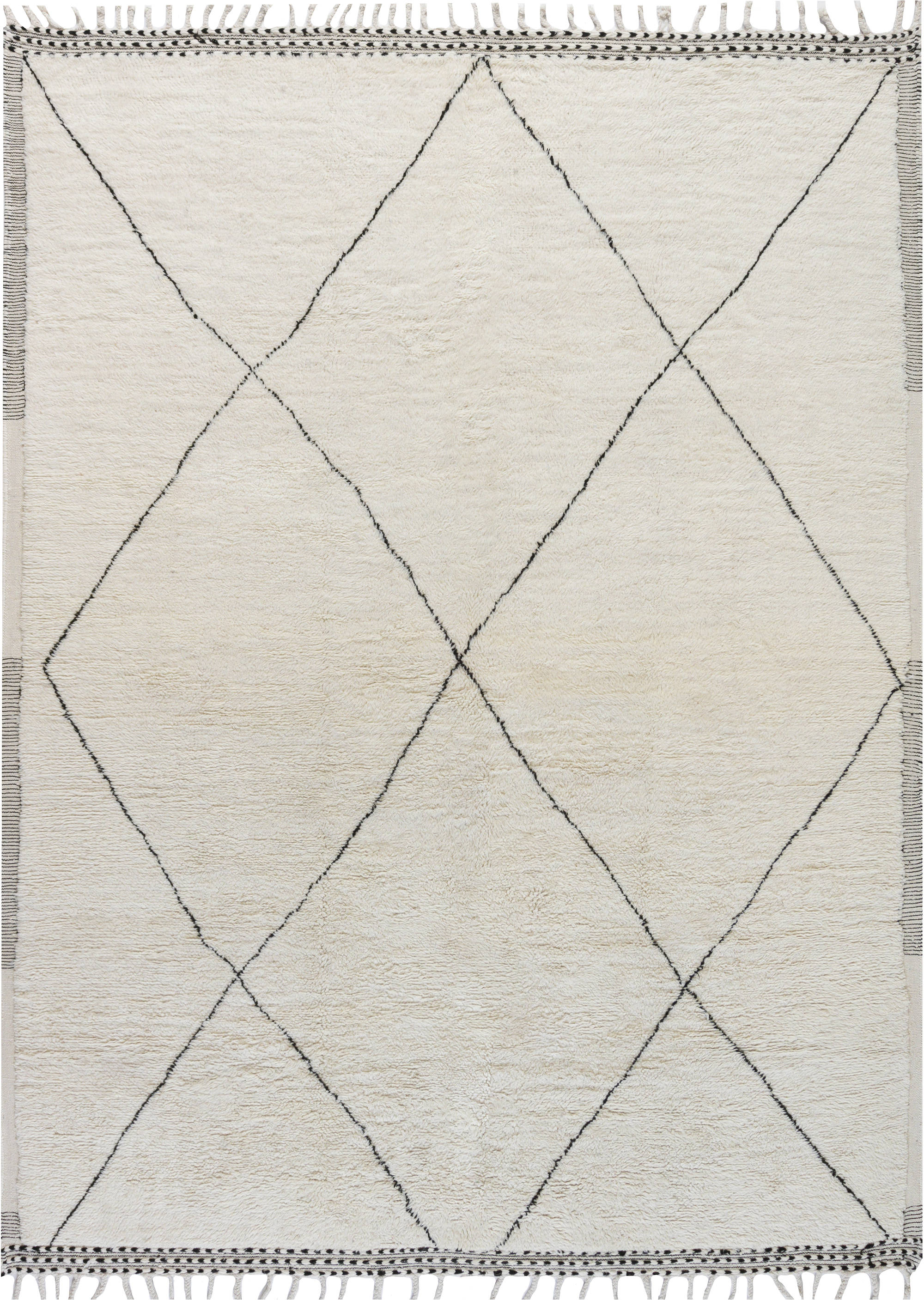 Hand-knotted Tribal Style Modern Moroccan Wool Area Rug N12128