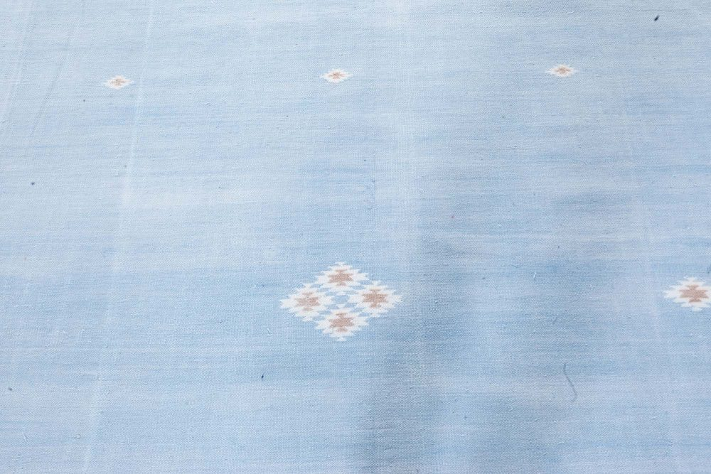 Indian Dhurrie Rug in Shades of Beige, Blue, and Brown BB7362