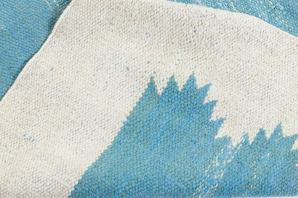 Indian Dhurrie Rug in Beige and Green BB7363
