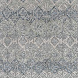 Blue-grey Mandorla Rug N12136