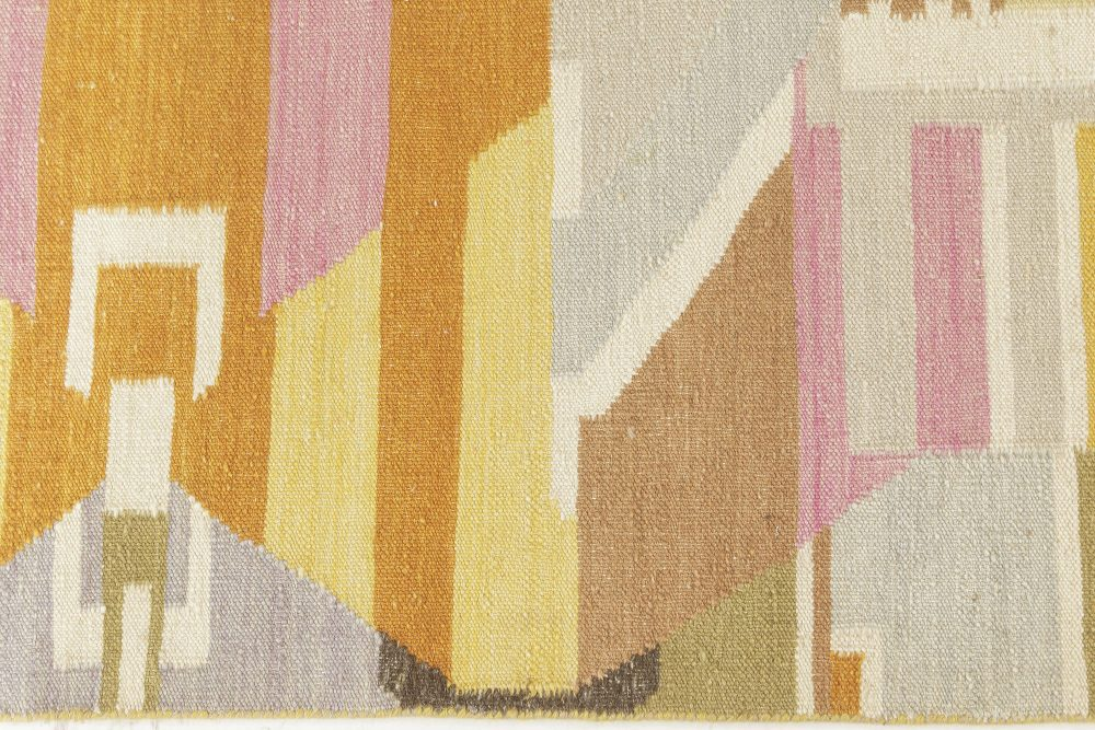 Contemporary Scandinavian Style Rug in Bright Colors N12164