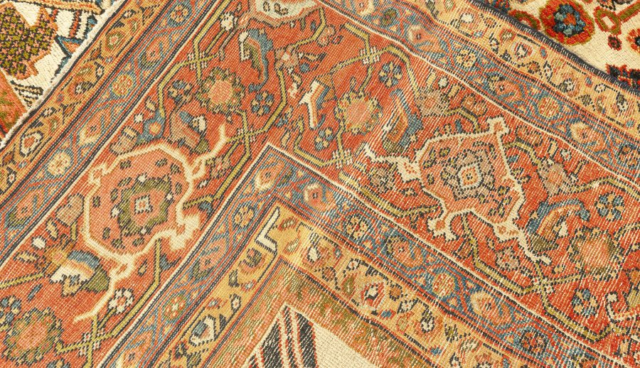 Antique Persian Sultanabad Rug (Size Adjusted) BB7577