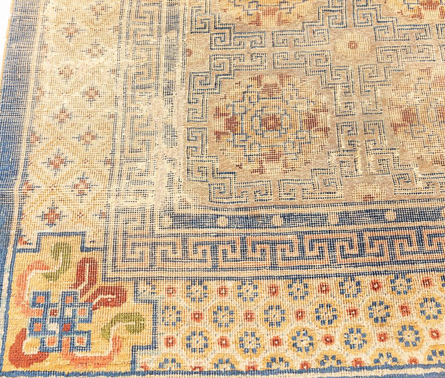 Antique Chinese Metal and Silk Thread Rug BB7579