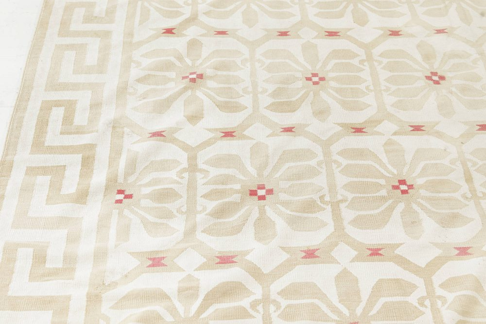 Extra Large Vintage Indian Dhurrie Carpet BB7584