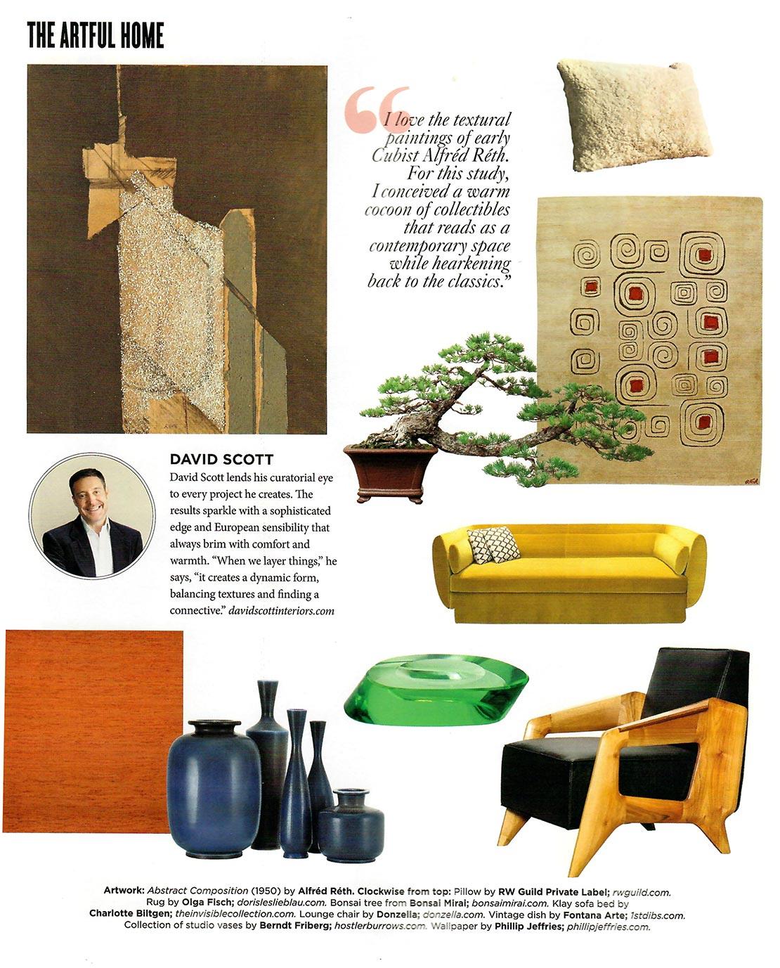 Art Deco rug from Doris Leslie Blau featured in Galerie Magazine