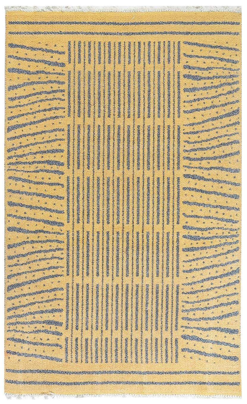 2020-12-30 14_01_14-Handgefertigter schwedischer Vintage Wollteppich in Blau-Grau und Gelb BB7102 von DLB