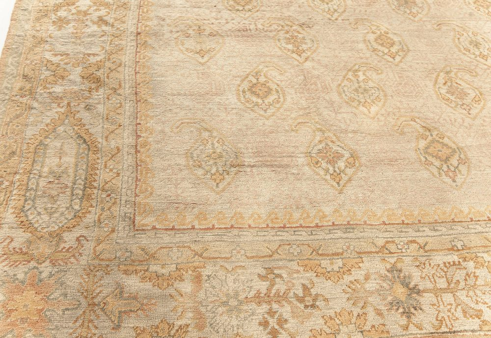 One-of-a-kind Antique Turkish Oushak Rug BB7587