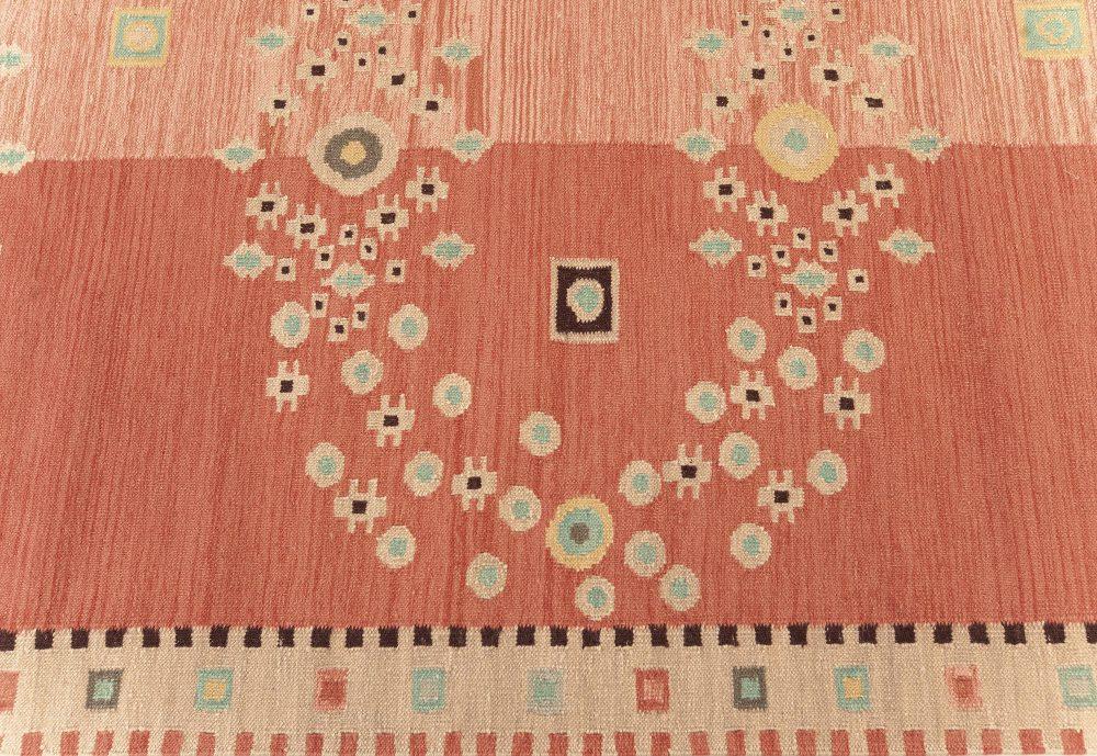 New Swedish Flat Weave Rug N12167