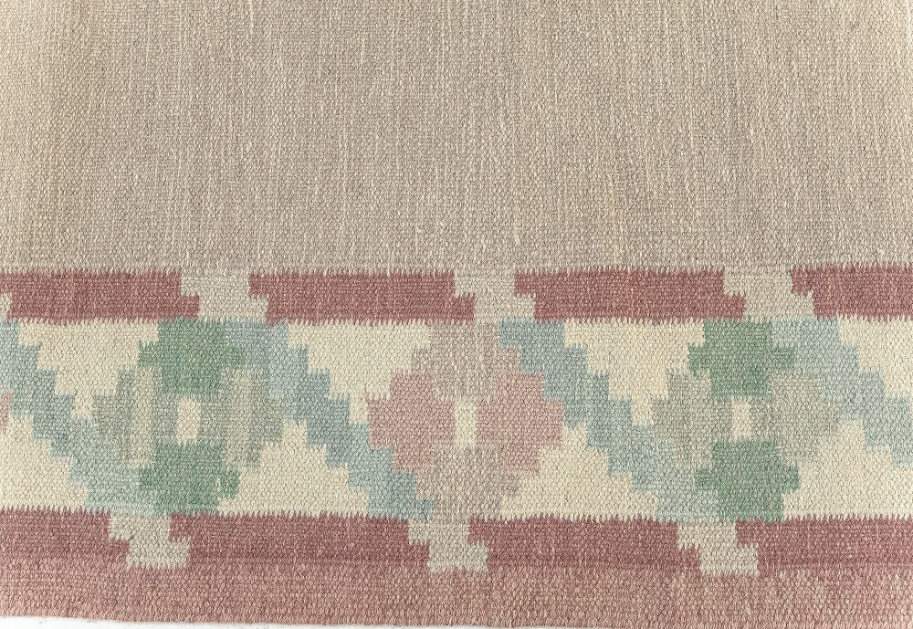 Vintage Swedish Flat weave Rug BB7620