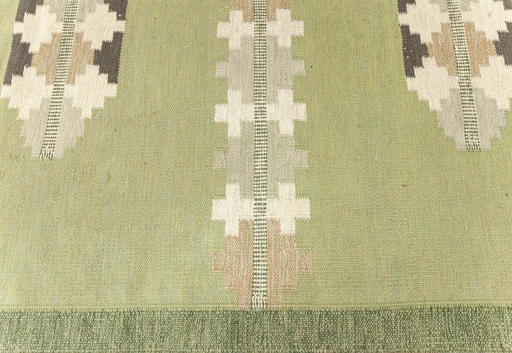 Vintage Swedish Flat weave Rug by GITT GRÄNNSJÖ-CARLSSON. (GG) BB7601
