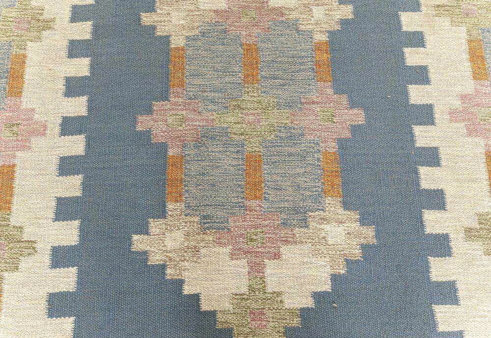 Vintage Swedish Flat weave Rug Signed by  Ellen Stahlbrand (ES) BB7602