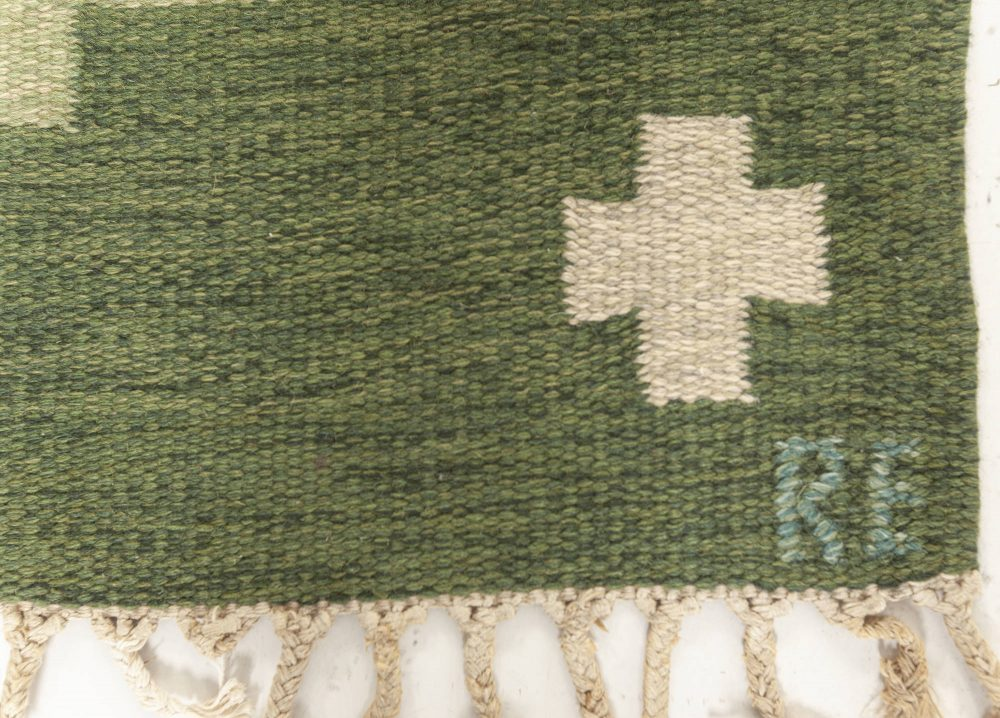 Vintage Swedish Rug Signed (RE) BB7606