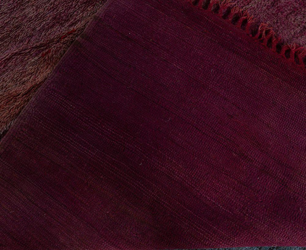 Oxblood Tribal Style Moroccan Rug N12180