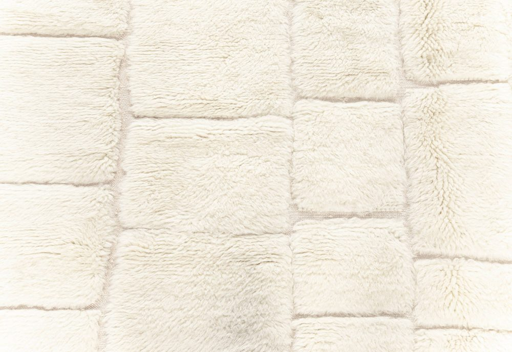 Tribal Style Modern Moroccan Wool Rug with Brick Wall Design N12182