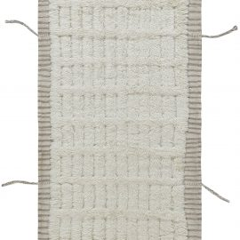 Modern Tribal Style Moroccan Runner with Kilim and Tassels N12181