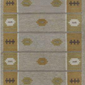Vintage Swedish Rug Signed by  Svensk Hemslöjd  (SH) BB7608