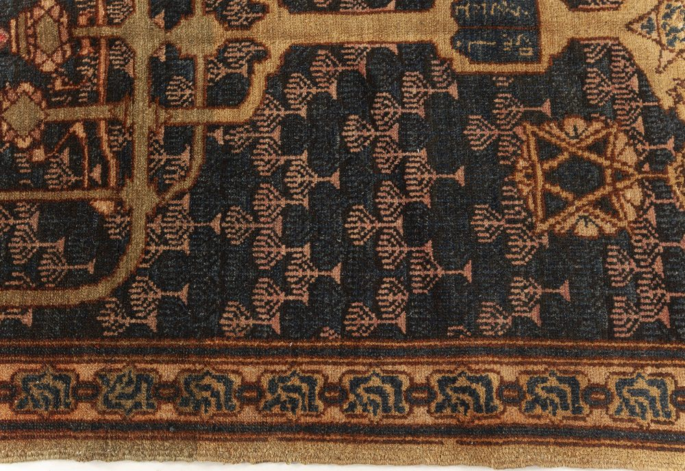 Antique Bezalel Rug with Menorah BB7622