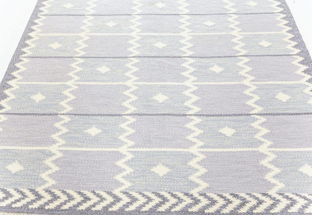 Mid-Century Lavender Swedish Flatweave Rug BB7629