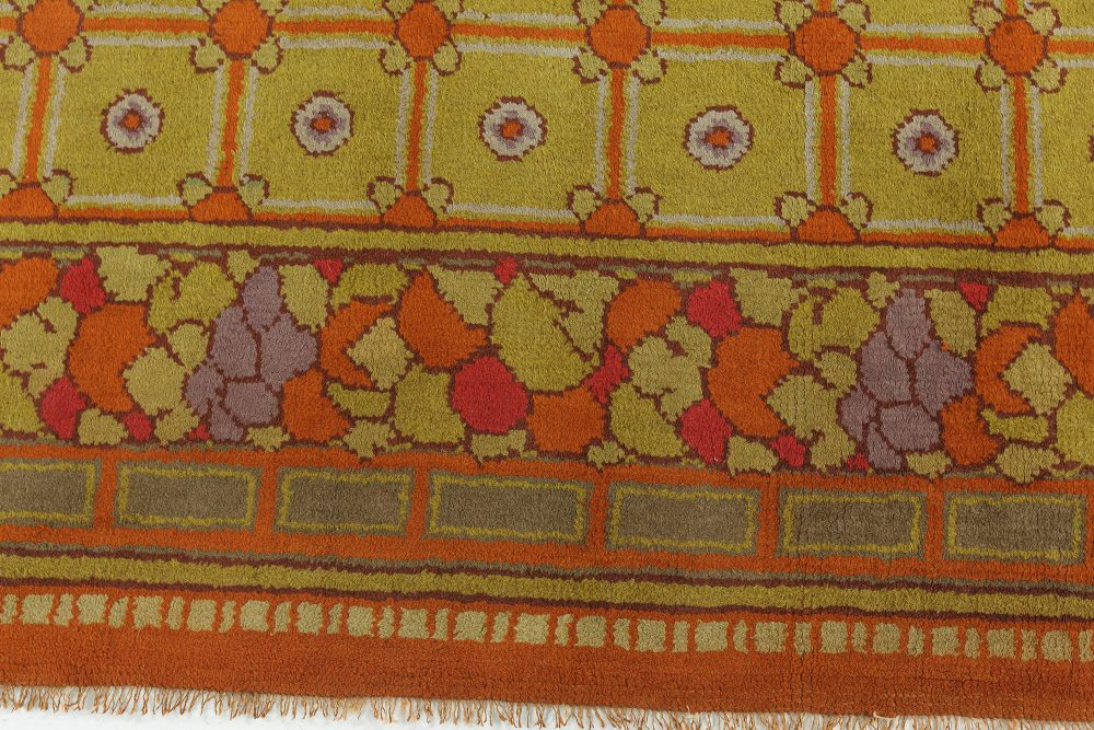 A Colorful Vintage French Art Deco Rug BB7640