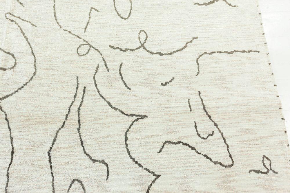 New Modernist Jean Cocteau Design Rug N12199