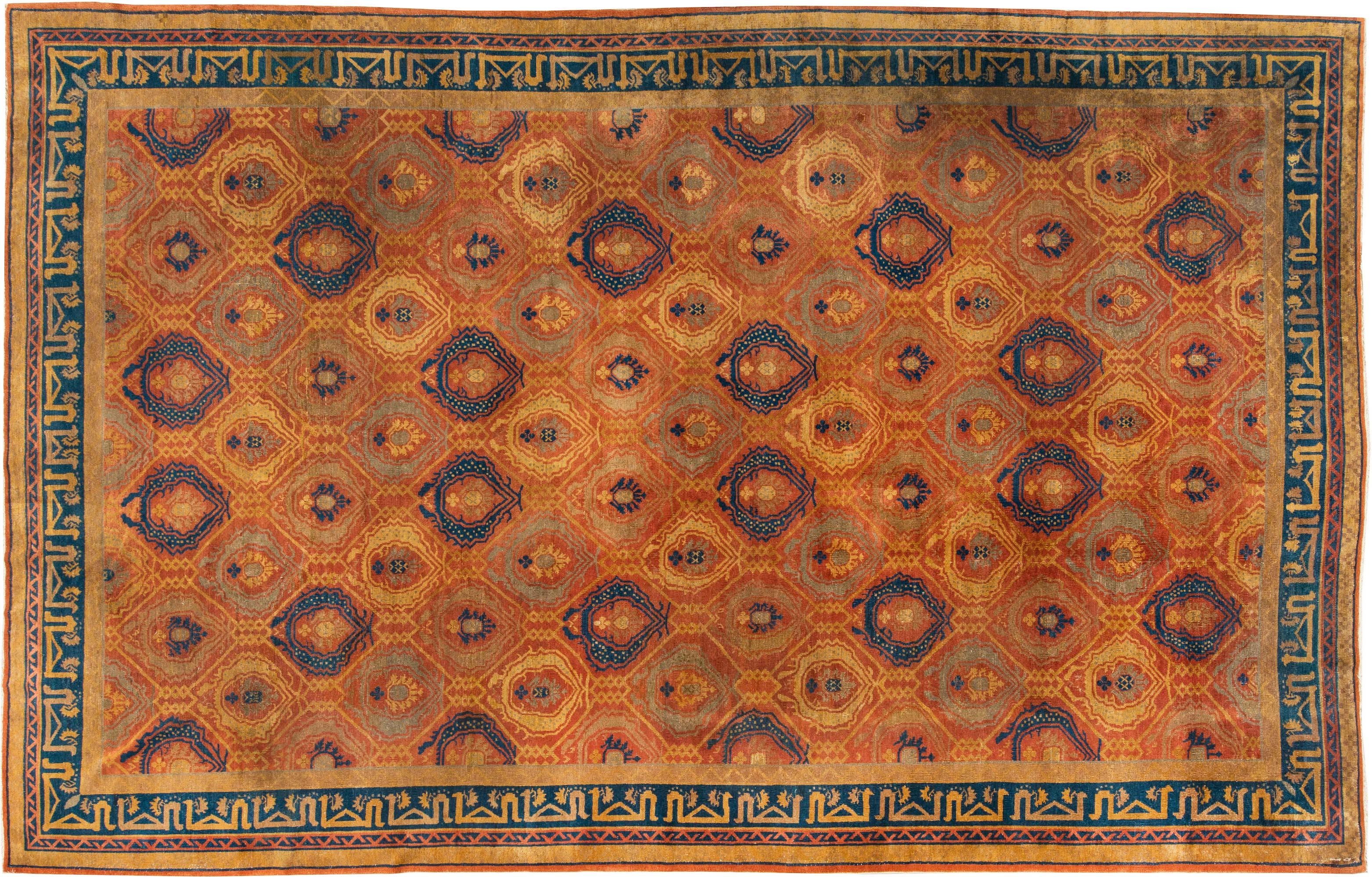 Chinesischer Vintage Deko-Teppich BB3289