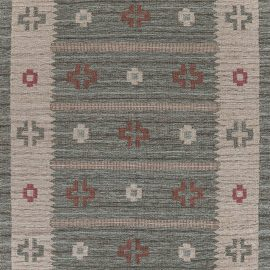 Contemporary August Fields Swedish Rug N12224