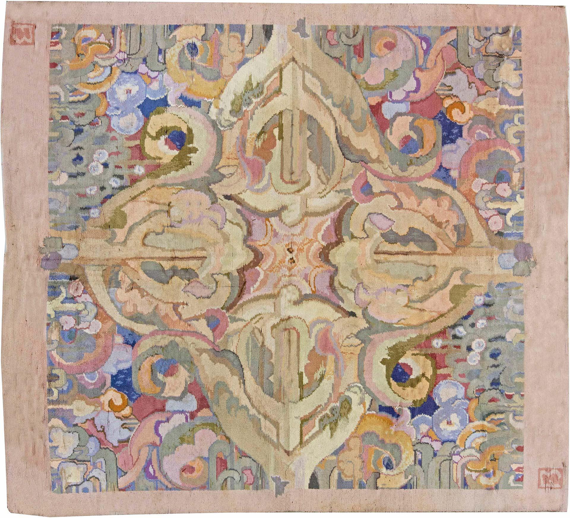 1930 Art Deco Teppich von Sir Frank Brangwyn BB6261