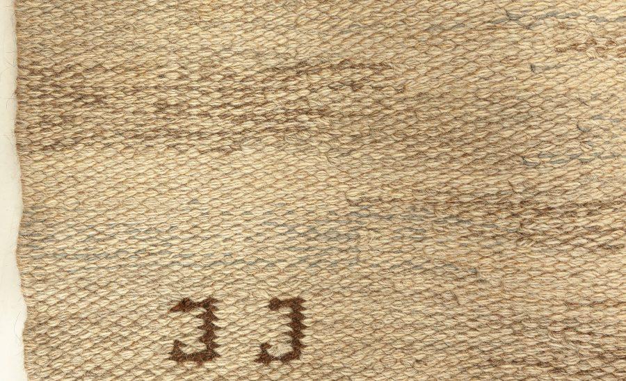 Vintage Swedish Flat Weave Rug by Judith Johannsson BB7653